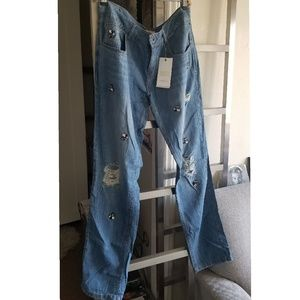 Zara basic z1975 stone denim